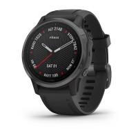 Часы FENIX 6S Sapphire серый DLC с черным ремешком