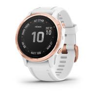 Часы FENIX 6S Pro розовое золото с белым ремешком