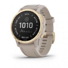 Часы FENIX 6S Pro Solar золотистый с песочным ремешком