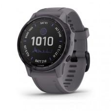Часы FENIX 6S Pro Solar аметистовый с темно-серым ремешком
