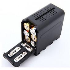 Батарейный блок NP-F750, NP-F770, NP-F930, NP-F950, NP-F970 (адаптер, переходник 6 AA на NP-F)